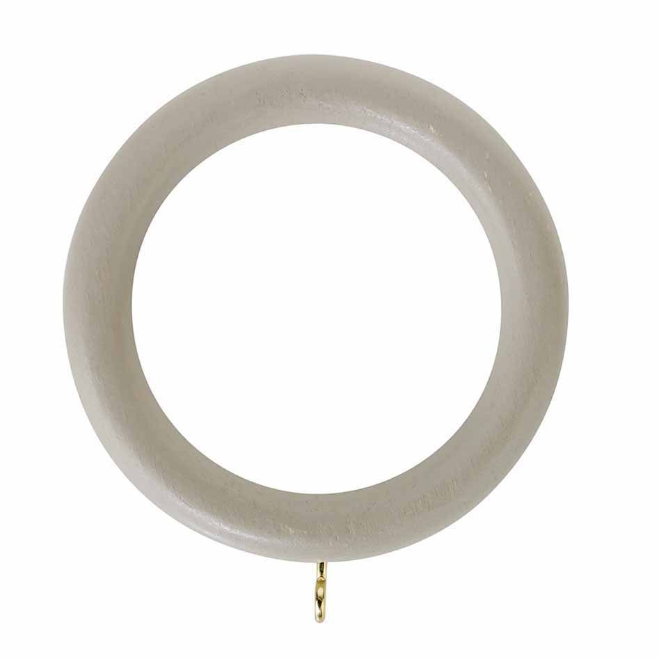 Rolls Honister 50mm Wooden Curtain Rings (Pack of 4) - Cafe Latte