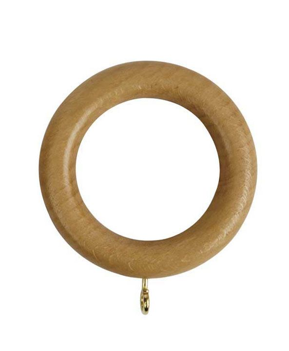 Rolls Woodline 50mm Wooden Curtain Rings Pack Of 4