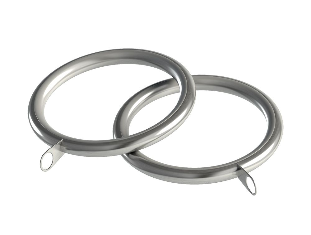Speedy Nikola 28mm Metal Curtain Rings (Pack of 8) - Satin Silver