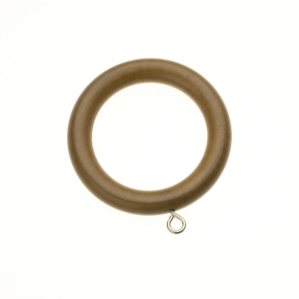 Swish Naturals 28mm Wooden Curtain Rings (Pack of 4) - Aged Oak